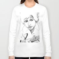 bob dylan Long Sleeve T-shirts featuring BOB  DYLAN by ART FEEDS HUNGER
