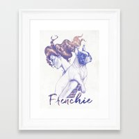 frenchie Framed Art Prints featuring FRENCHIE by Marcel Spuldaro Art