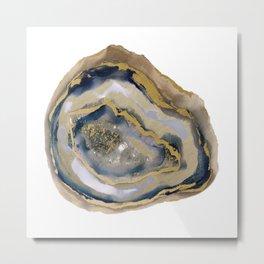 agate slice art, agate slice, agate art, geode art, geode print, modern art, contempora Metal Print