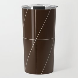 Brown Triangles by Friztin Travel Mug