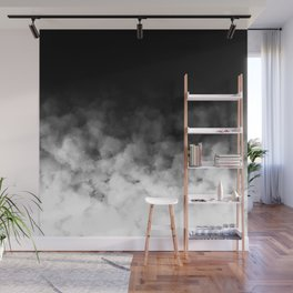 Ombre Black White Clouds Minimal Wall Mural