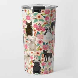 Frenchie floral french bulldog cute pet gifts dog breed must haves florals french bulldogs Travel Mug