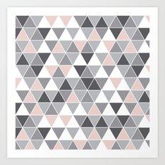 Tri quartz and gray Art Print