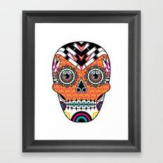 Deco Skull Framed Art Print