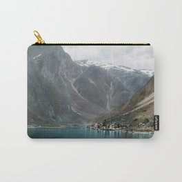 Village by the Lake & Mountains Carry-All Pouch