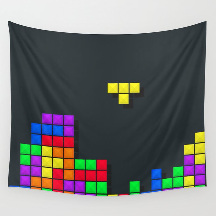 Tetris print design Wall Tapestry