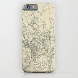 Vintage Map of Jerusalem Israel (1917) iPhone Case