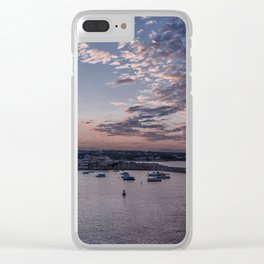 Sunset over Rockport Harbor Clear iPhone Case