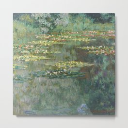 Water Lily Pond Claude Monet Metal Print