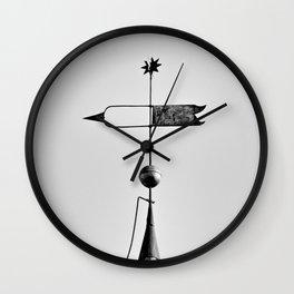 Moravian Star Weathervane Wall Clock
