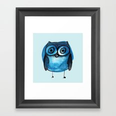 Blue Owl Boy Framed Art Print