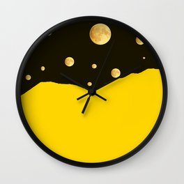 Many moons in the sky #decor #buyart #society6 Wall Clock