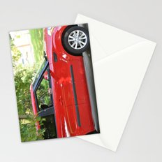 Yorkie Driving Stationery Cards