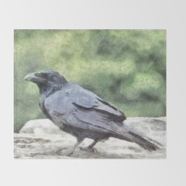 Crows Everywhere Are Equally Black Throw Blanket