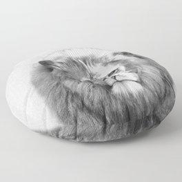 Lion - Black & White Floor Pillow