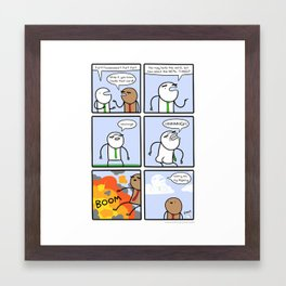 Antics #205 - too much practice Framed Art Print
