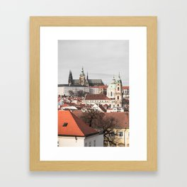 A glimpse on Prague Framed Art Print