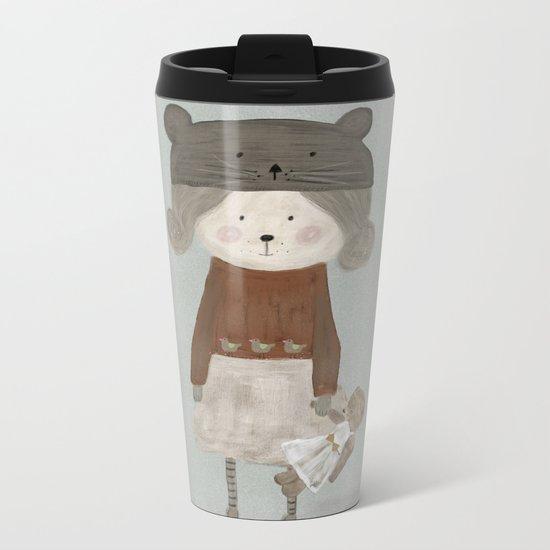 lucy bear Metal Travel Mug