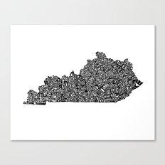 Typographic Kentucky Canvas Print