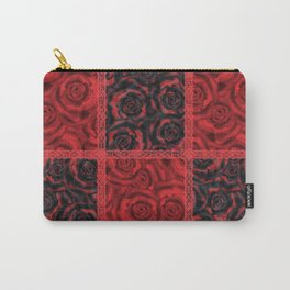 Patchwork . Roses are red. Carry-All Pouch