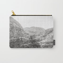 Bear Canyon - Black and White Utah Photography Carry-All Pouch