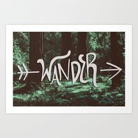 wander Art Prints featuring Wander by Leah Flores