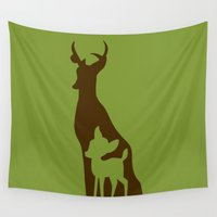 bambi Wall Tapestries featuring Bambi by Citron Vert