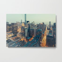 Downtown Chicago at Dusk Metal Print
