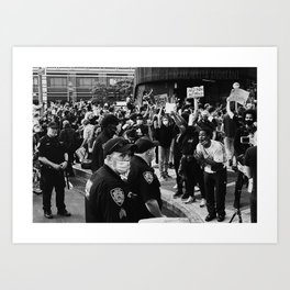 Police Brutality Protest, Brooklyn, NY 2020 Art Print