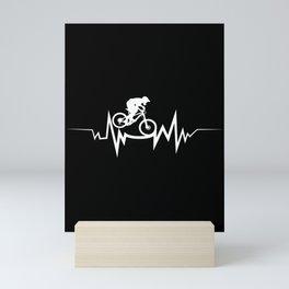 Mountain Bike Heartbeat - Cool Gift For Bike Lovers Mini Art Print