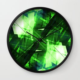 Elemental - Geometric Abstract Art Wall Clock