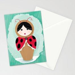 Ladybug Matryoshka Stationery Cards