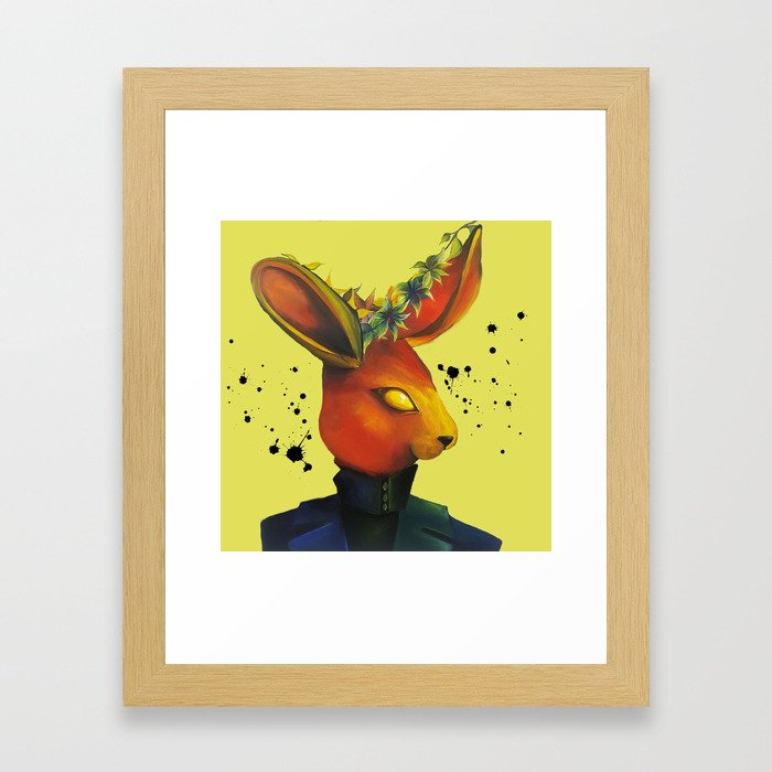 Red Rabbit Framed Art Print