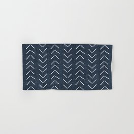 Mud Cloth Big Arrows in Navy Hand & Bath Towel