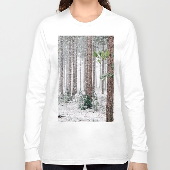 Snow #woods Long Sleeve T-shirt