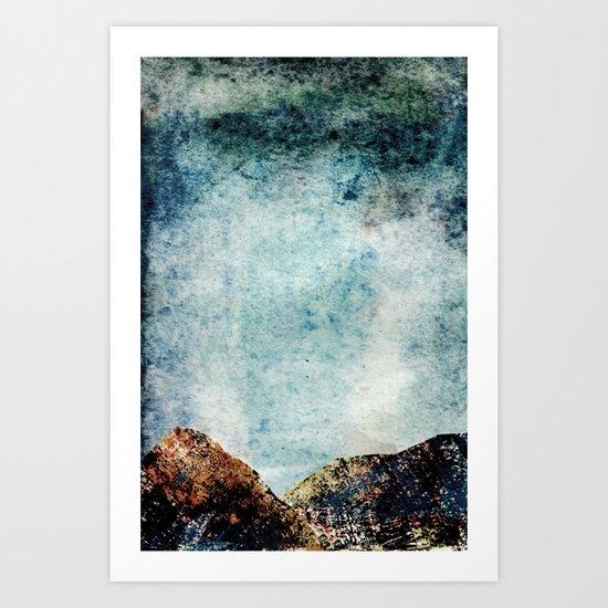A Mountains Strength (2) Art Print