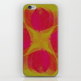 green lemon and pink flowers pattern iPhone Skin