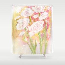 white flower bouquet Shower Curtain