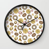 cookies Wall Clocks featuring Cookies ♥ by Martina Marzullo Art