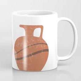 Minimal Abstract Greek Vase 20 - Oinochoe - Terracotta Series - Modern, Contemporary Print - Sienna Coffee Mug