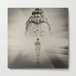 Walk To Buddhism Metal Print