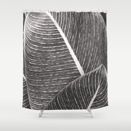 Tropical Leaves No1 Shower Curtain