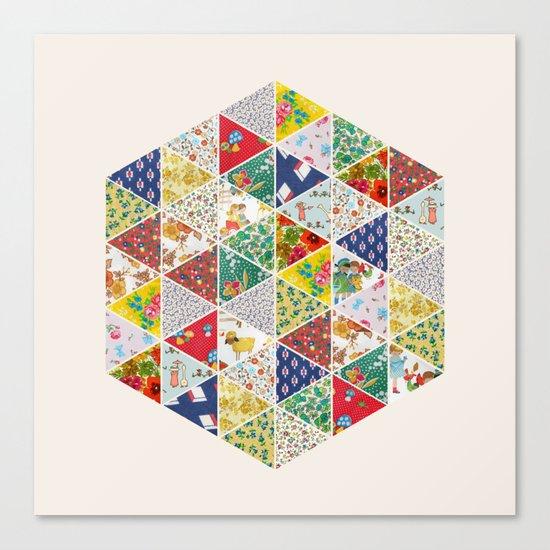 Geometric Floral Quilt Canvas Print
