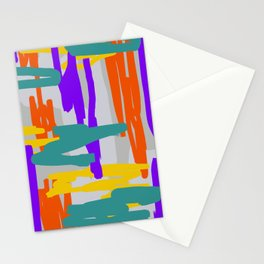 Bright Linear Abstract Stationery Cards