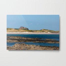 Bamburgh Castle Beach Metal Print