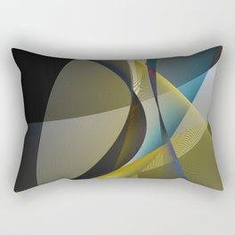 lines & shades art digital curry cyan Rectangular Pillow