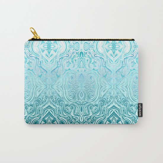 Twists & Turns in Turquoise & Teal Carry-All Pouch
