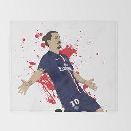 Zlatan Ibrahimovic - Paris SG Throw Blanket