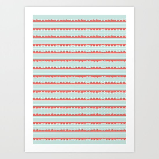 Spots and Strips Art Print