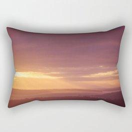 Olympic Mountains at Sunset Rectangular Pillow